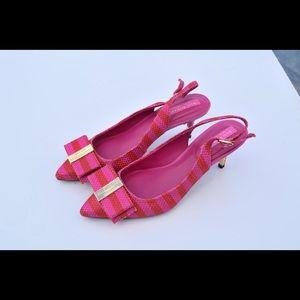 Isaac Mizrahi sling back kitten heels